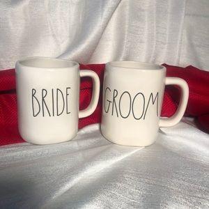 RAE DUNN BRIDE & GROOM MUG SET WEDDING BRIDAL LL